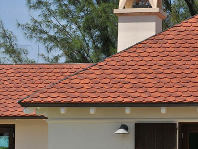 handmade clay shingle tile